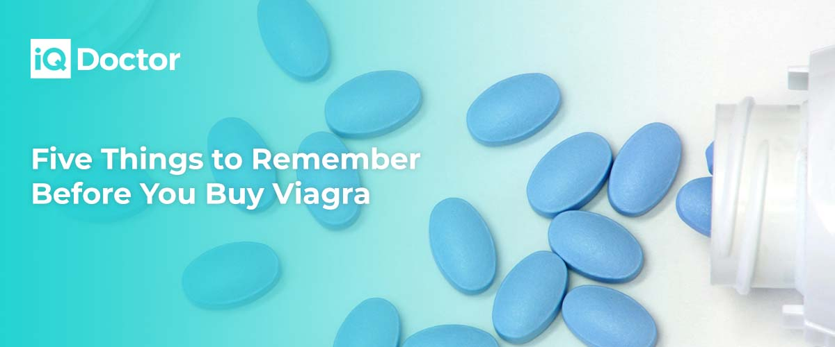 Five Things to Remember Before You Buy Viagra