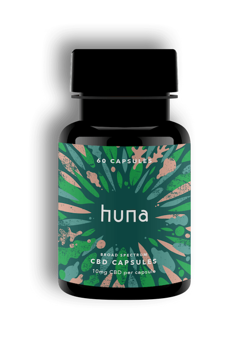 Huna BROAD SPECTRUM CBD Capsules 10mg (60 capsules)